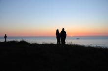 Magisk solnedgang på Runde. Foto: Knut Werner Alsén